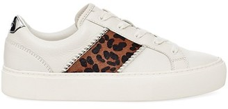 UGG Dinale Leopard-Print Calf Hair & Leather Sneakers