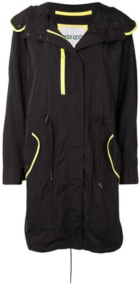 Kenzo Contrast-Piping Raincoat