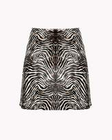 Theory Zebra-Print Skirt