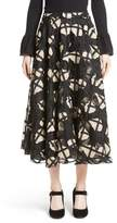 Co Women's Floral Cage Lace Midi Skirt