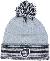 New Era Women's Oakland Raiders Snow Crown Redux Knit Hat