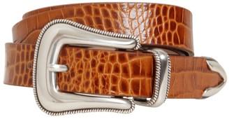 B-Low the Belt 20mm Wylder Croc Embossed Leather Belt