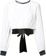 Alice + Olivia Alice+Olivia - tied blouse - women - Silk/Polyester/Spandex/Elastane - L