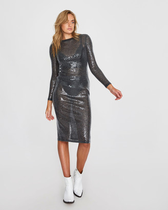Alice In The Eve Courtney Sheer Sequin Mini Dress