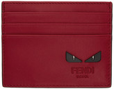 Fendi Red 'Bag Bugs' Card Holder