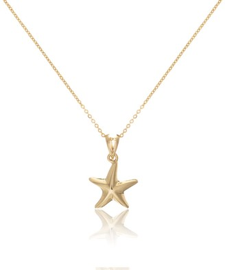 Auree Jewellery Tamarin Yellow Gold Vermeil Starfish Pendant