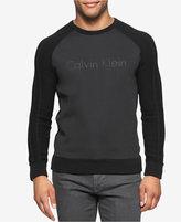Calvin Klein Men's Logo-Graphic Raglan Sweater