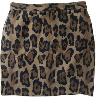 Kenzo Camel Velvet Skirt for Women Vintage
