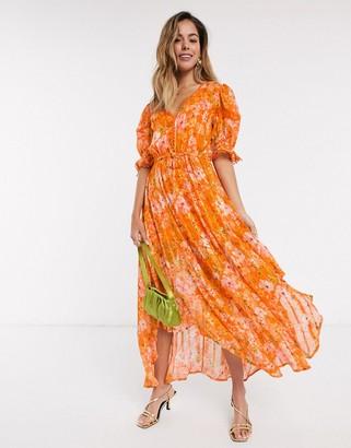 Rahi Cali Rahi Positano Bella hankie hem floral midi dress in positano print