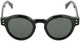 RetroSuperFuture Eddie Black Round Acetate Sunglasses