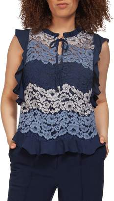Dex Sleeveless Lace Blouse