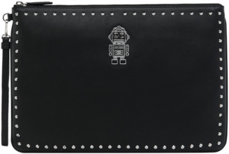 MCM Roboter Wristlet Zip Pouch in Nappa Leather