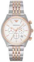Emporio Armani Zeta Two Tone Silver/Rose Stainless Steel Watch