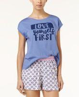 Hue Graphic-Print Muscle Sleep T-Shirt
