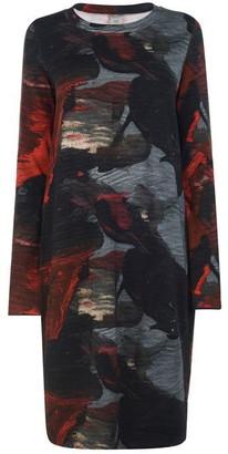 Crea Concept Red Splash Midi Dress