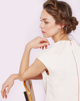 LEONEE High gathered neck top