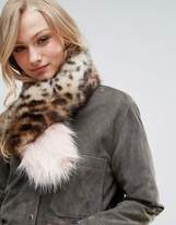 Bandits Premium Faux Fur Cross Through Scarf