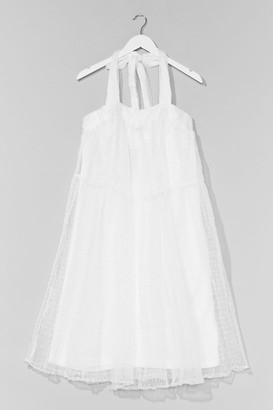 Nasty Gal Womens In the Swing of Things Organza Mini Dress - White - 4, White