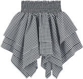 Little Remix Asymmetrical gingham print skirt
