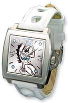 Ed Hardy Men's TRIUMPH TR-WH White Leather Quartz Watch with Dial