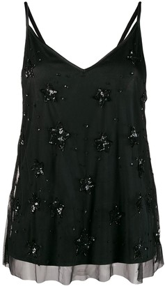 P.A.R.O.S.H. tulle overlay Galaxy camisole