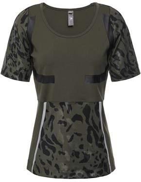 adidas by Stella McCartney + Adidas Printed Stretch Tech-jersey T-shirt