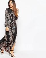 Warehouse Folk Print Maxi Dress