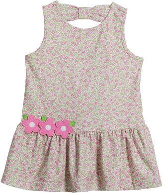 Florence Eiseman Girl's Floral-Print Flounce Dress, Size 2-6