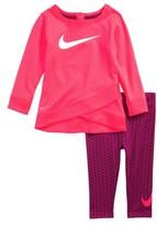 Nike Infant Girl's Dri-Fit Logo Graphic Tee & Print Leggings Set