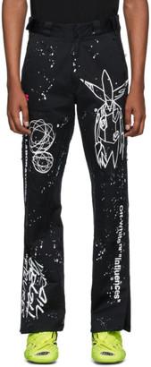 Off-White Black and White Futura Edition Alien Carpenter Jeans