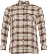 Dorothy Perkins **DP Curve Ivory and Wine Check Shirt