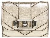 Rebecca Minkoff Women's Love Lock Metallic Leather Wallet - Metallic