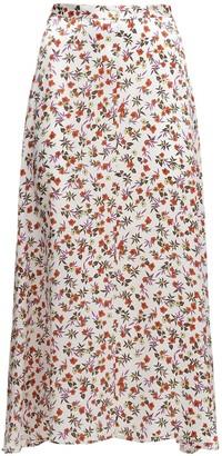 Ciao Lucia Roma Print Silk Midi Skirt