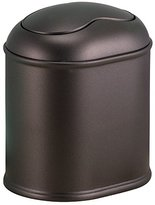 InterDesign York Vanity Countertop Wastebasket Trash Can, Bronze