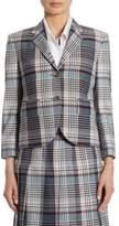 Thom Browne Wool Madras Check Blazer