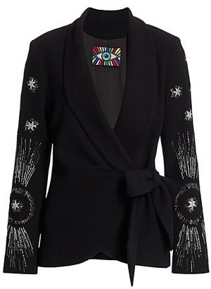 Libertine Star Emebllished Wrap Jacket