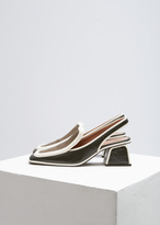 Marni Forest Night Colorblock Slingback Heel