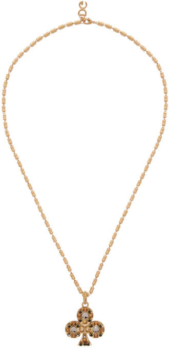 Dolce & Gabbana Gold Clubs Necklace