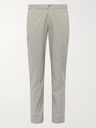 Incotex Slim-Fit Stretch-Cotton Poplin Trousers