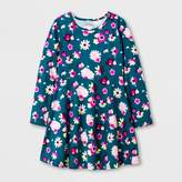 Cat & Jack Girls' Long sleeve Floral Print Dress - Cat & Jack Green