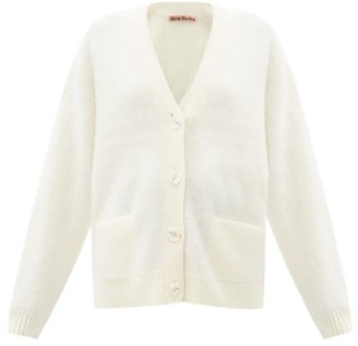 Acne Studios V-neck Brushed-knit Cardigan - Ivory