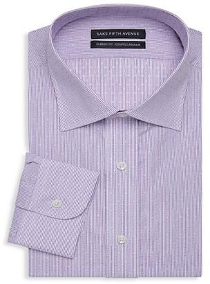 Saks Fifth Avenue Classic-Fit Pinstripe Dress Shirt