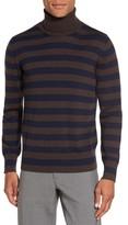 Eleventy Men's Striped Turtleneck Sweater