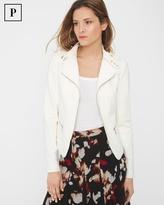 White House Black Market Petite Asymmetric-Zip Knit Jacket