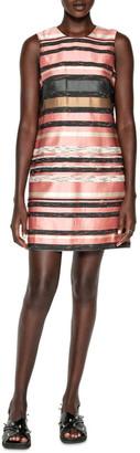 Cue Stripe Jacquard Shift Dress