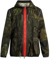 Givenchy Dollar-print Hooded Technical Jacket