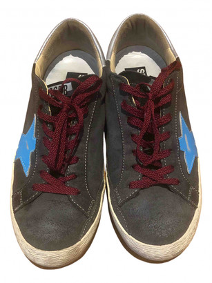 Golden Goose Superstar Anthracite Leather Trainers
