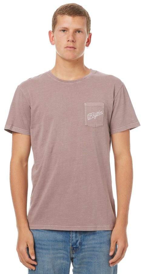 rhythm Pocket Mens T Shirt Red