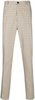 Kenzo checkered print tailored trousers