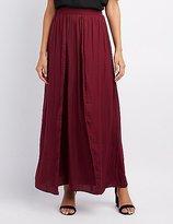 Charlotte Russe Satin Double Slit Maxi Skirt